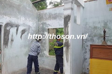 cách sơn lại tường nhà bị cháy