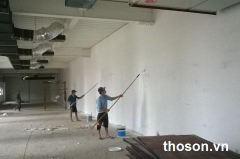 sơn lại nhà cũ có cần sơn lót không