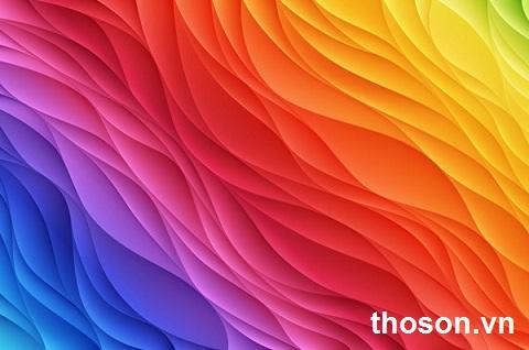 thứ tự sơn các màu sắc